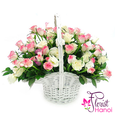 send beautiful pink roses for love to Vietnam
