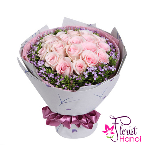 Pink roses for girlfriend delivery same day