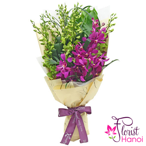 Orchid flowers bouquet delivery in Hanoi