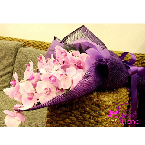 Purple orchid bouquet for mommy