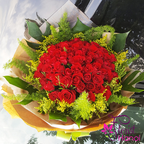 Send love flowers to girlfriend in Hanoi
