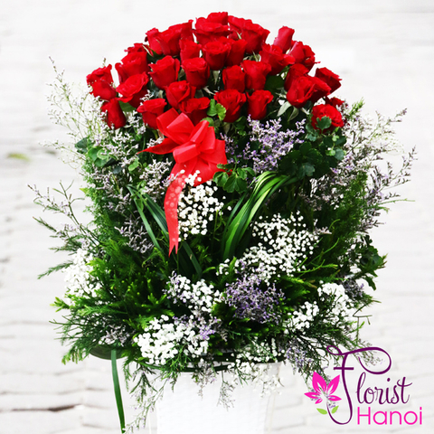 Send love flowers to Hanoi city Vietnam