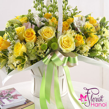 Yellow roses delivery same day hanoi free shipping