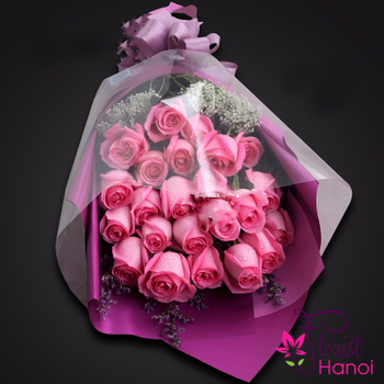 Pink roses bouquet for love flowers