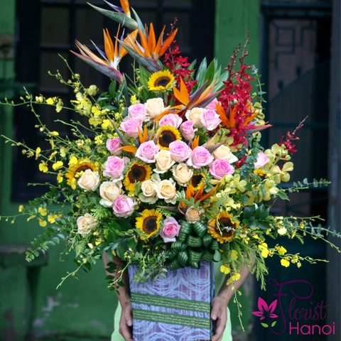 Birthday flowers in Hanoi