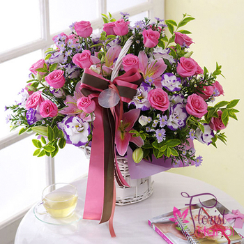 Pink roses flowers Hanoi for birthday