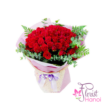 Hanoi birthday flowers for love free delivery