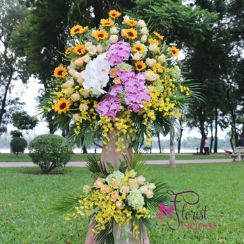 Flowers congratulations for opening company in Hanoi