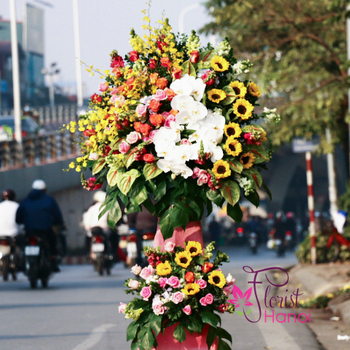 Grand opening flowers stand Hanoi