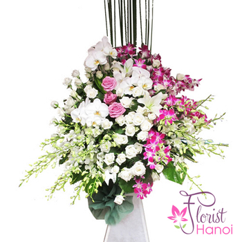 Sympathy flowers delivery in Hanoi free ship online