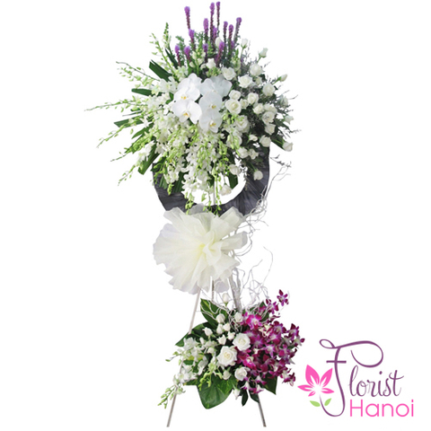 Send sympathy flower arrangement to Hanoi