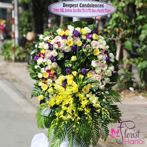 Hanoi sympathy flowers delivery