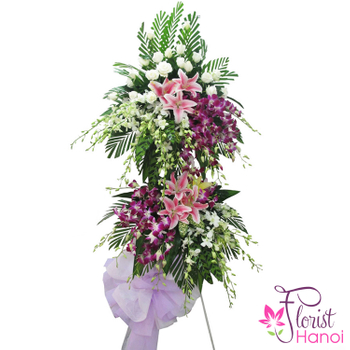 Sympathy flowers delivered fast in Hanoi