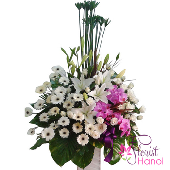Funeral flowers delivered Hanoi free shipping