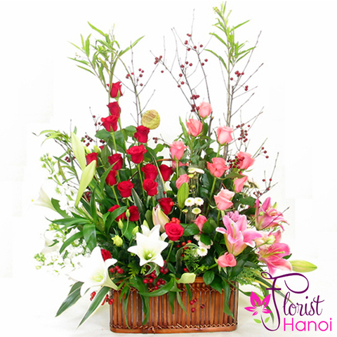 New year flower arrangement