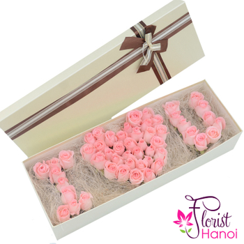 i love you flower gift