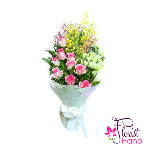 Hanoi florist love flowers bouquet for wife