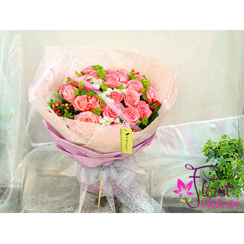 Pink roses for love flowers in Hanoi florist