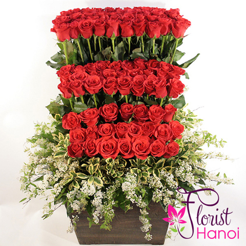 Send love flowers to Hanoi sameday delivery now