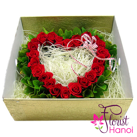 Hanoi heart flowers in box