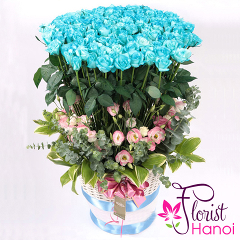 99 blue roses Vietnam flowers shop