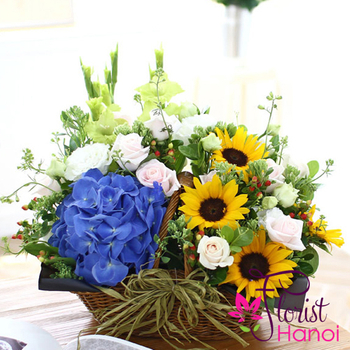 New home flowers free delivery in hanoi