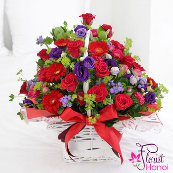 Flower basket for your girlfriend