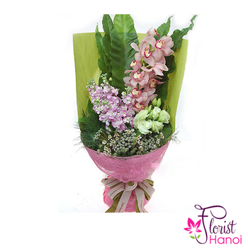 Cymbidium orchids bouquet for mommy