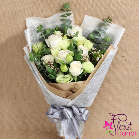 Bouquet white flower delivery same day