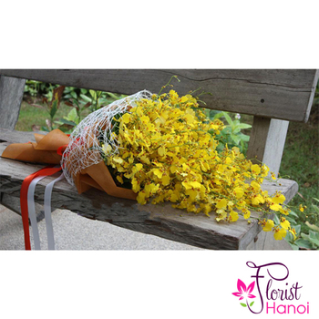 Send yellow orchird flowers to mom