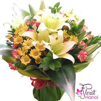 Bouquet of mixed flowers delivery now