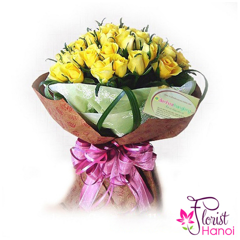 Yellow roses delivery same day in Vietnam
