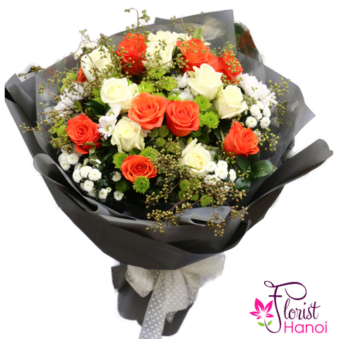 Bouquet flowers arrangement free delivery Hoangmai district