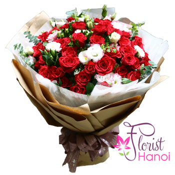 Beautiful love flowers for girlfriend in Hanoi