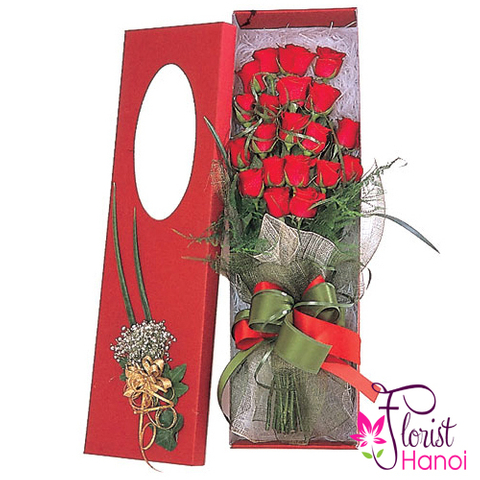 Send red rose box to Hanoi