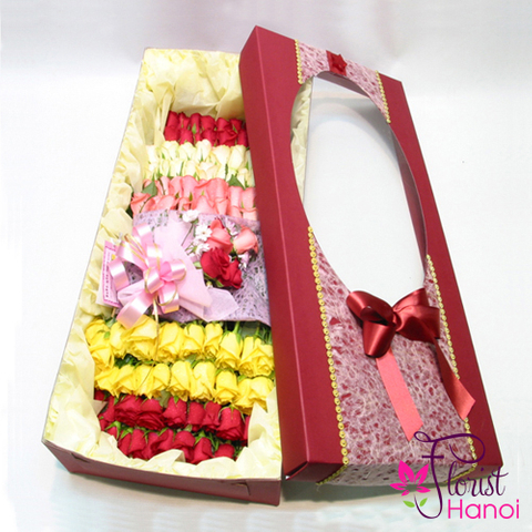Mixed rose box