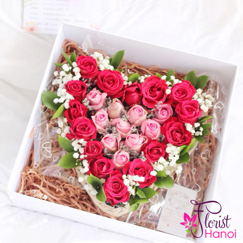 Send flower box beautiful to Hanoi city
