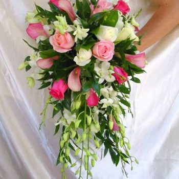 WEDDING BOUQUET PINK ROSE