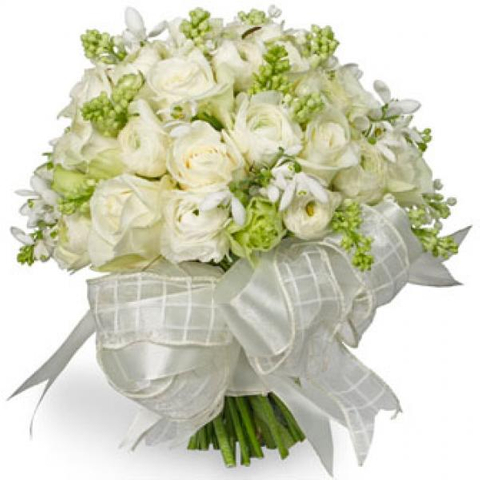 WEDDING BOUQUET WHITE ROSE