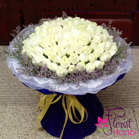 Vip flowers with white roses in Vietnam