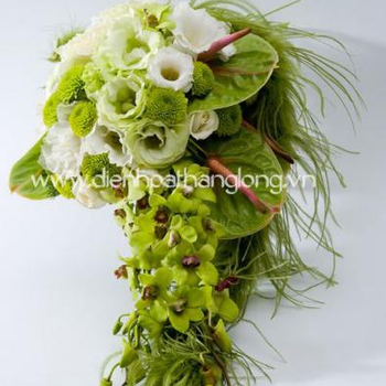 WEDDING BOUQUETS FLOWER GREEN