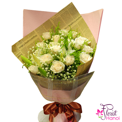 Beautiful bouquet for girlfriend free delivery
