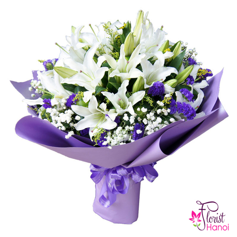 Beautiful lily bouquet for love