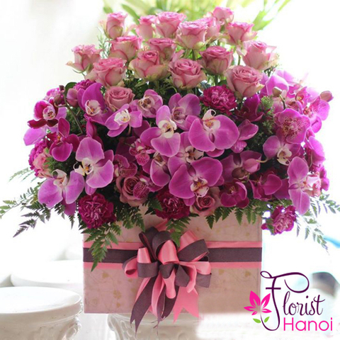 Hanoi vip flowers with orchid and rose