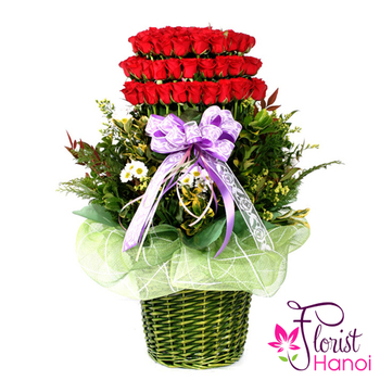 99 roses special arrangement free ship today