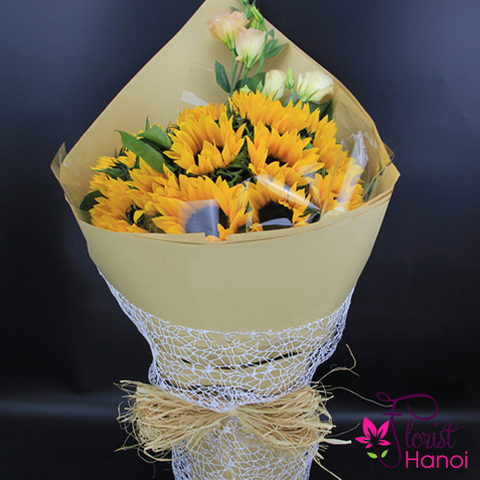 Send sunflower bouquet to Hanoi city