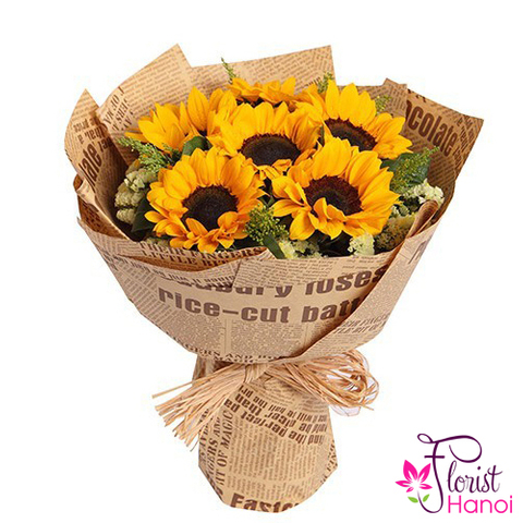 Hanoi sunflower bouquet congratulation graduation