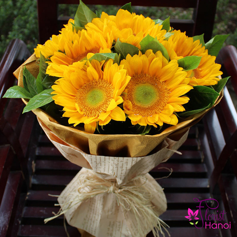 Bouquet sunflower free shipping in Hanoi
