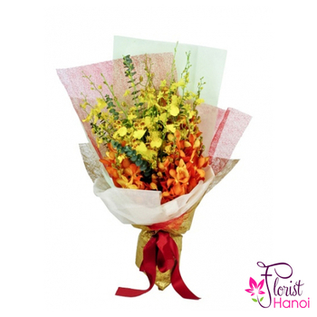 Beautiful orchid bouquet free ship in Hanoi