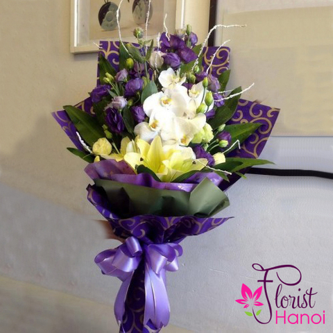 Order orchid bouquet in Hanoi flower online